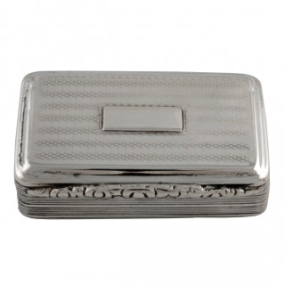 George IV Sterling Silver Snuff Box