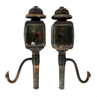 Pair of Danish Coaching Lamps