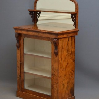 Unusual Victorian Pier Cabinet in Walnut