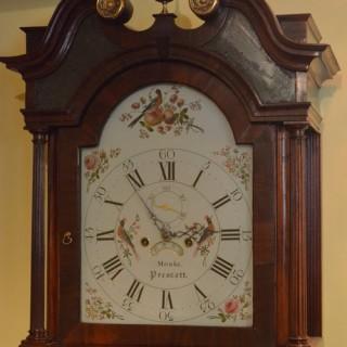 Fine Georgian Longcase Clock by Monks, Prescott