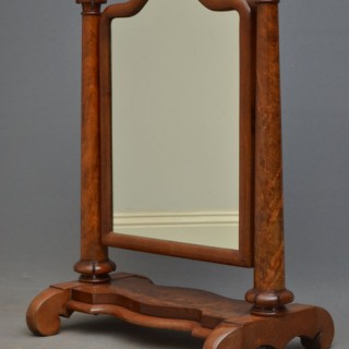 William IV Mahogany Dressing Mirror / Toilet Mirror