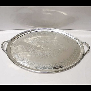 Victorian Silver Tray