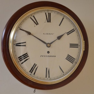 Early Victorian Wall Clock Garret, Peterborough