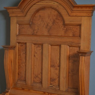 Unusual Victorian Pine Hall Bench