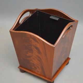 Rare Edwardian Waste Paper Bin – Plant Stand