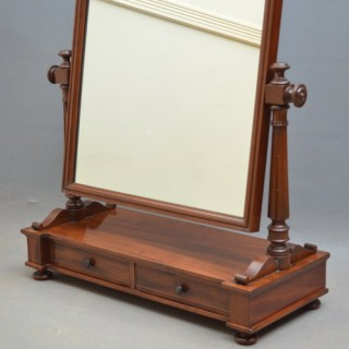 Early Vcitorian Dressing Table Mirror in Mahogany