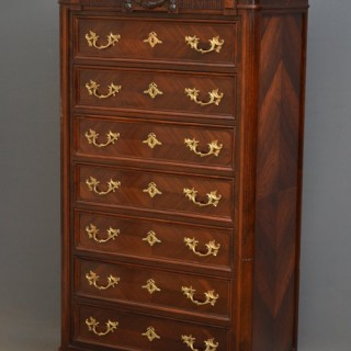 Continental Rosewood Tall Chest of Drawers