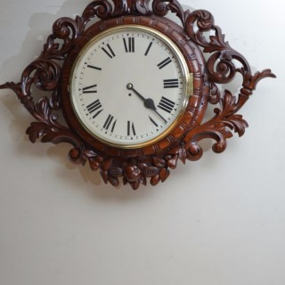 Exceptional Victorian Wall Clock