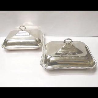 Pair of Georgian Silver Entrée Dishes
