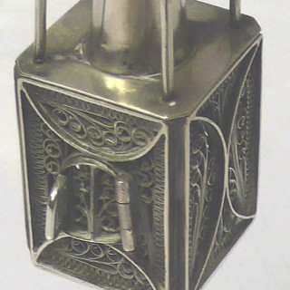 Antique Silver Spice Box