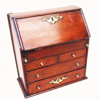 Antique Mahogany Miniature Bureau