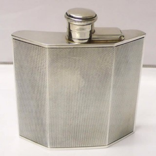 Art Deco Silver Flask