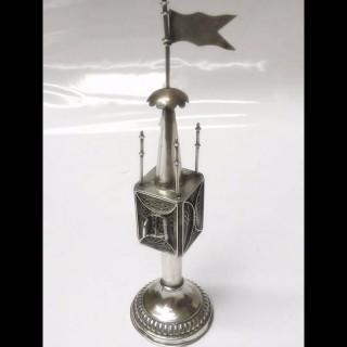 Antique Silver Spice Box