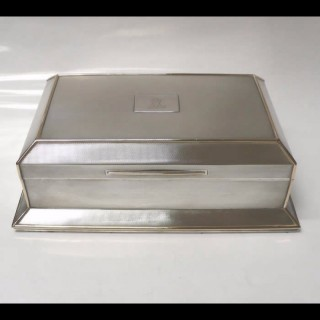 Vintage Silver and Gold Cigar Box by Asprey