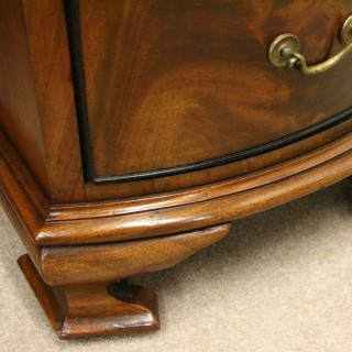 Late Victorian Mahogany Serpentine Desk