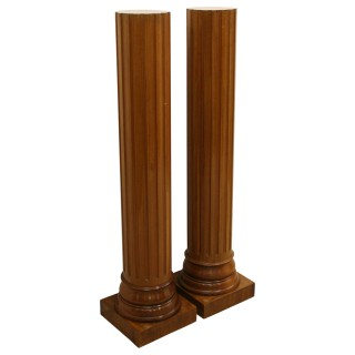 Pair of Neo Classical Style Mahogany Pedestals