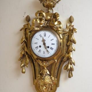 XIX Century Gilt Metal Cartel Clock – Wall Clock