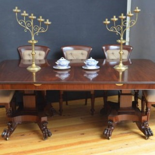Superb William IV Mahogany Dining Table