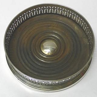 Vintage Silver Wine Coaster