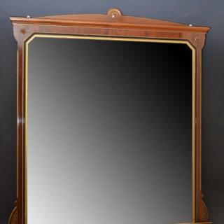 Fine Large Victorian Mirror – Mahogany Mirror