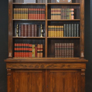 Victorian Rosewood Library Bookcase