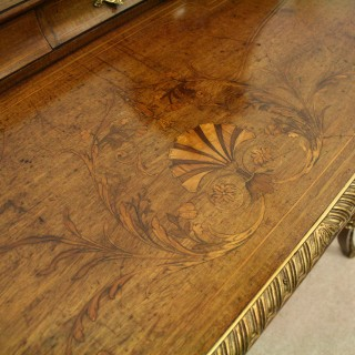 Late Victorian Mahogany and Marquetry Ladies Writing Desk