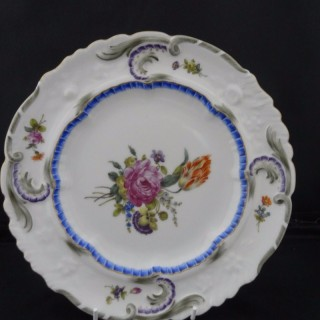 Zurich Porcelain Feather-Moulded Plate