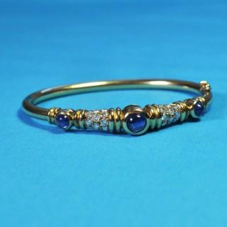 Chaumet Sapphire and Diamond Bangle