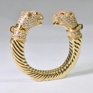 Double Panther Head Torc