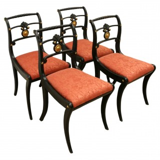 Set of 4 Regency Chairs by William Trotter