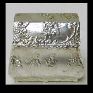 Miniature Silver Commode Box