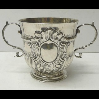 Antique William III Silver Porringer