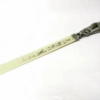 Victorian Silver Letter Opener