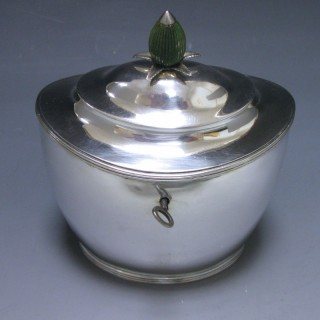 Antique Silver George III Tea Caddy