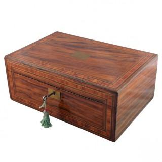 Victorian Walnut Box Desk
