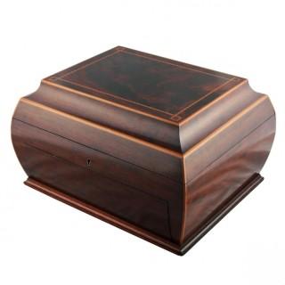 Edwardian Mahogany Cigar Box