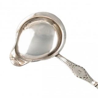 18th Century Silver Metal Toddy Ladle