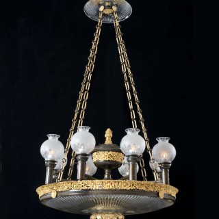 An Important Regency Dish Light  Of Exceptional Size