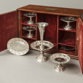 A Fine Sheffield Hall Marked Silver Cased Table Service  By Frederick Elkington