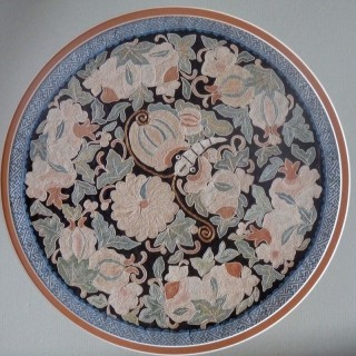 Chinese Silk Embroidered Antique Roundel