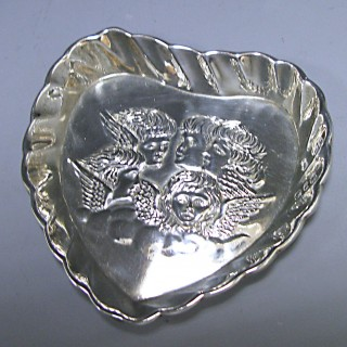 A Victorian Antique Silver Pin Tray