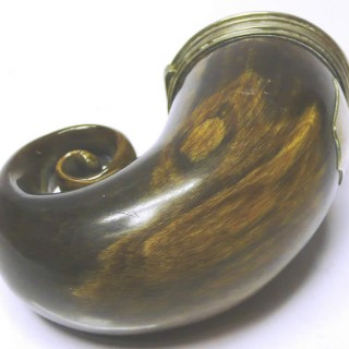 Antique Scottish Silver Snuff Mull