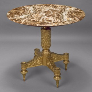 Giltwood Centre Table With A Alabastro Fiorito Top