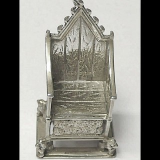 Antique Miniature Silver Throne