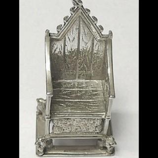 Antique Miniature Silver Throne