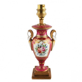 20th Century Porcelain Table Lamp