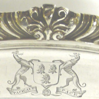 Georgian Carving Dish in Old Sheffield Plate