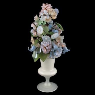 Murano Glass Flowers & Urn
