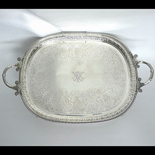 Georgian Silver Tray by Benjamin Smith