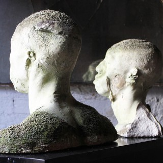 A Wonderful Pair of 20thC Composition Plaster Death Masks of African Men